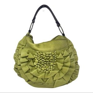 Anthropologie Miss Albright leather flower bag